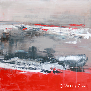 Wendy Graat abstract 2013 acryl 80x80 cm Christel en Jolan 2