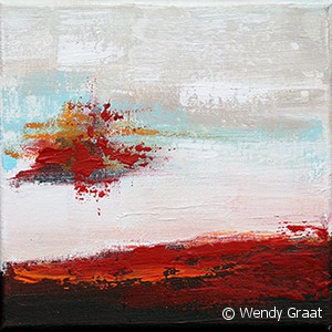 Wendy Graat abstract 20x20 acryl verwondering I