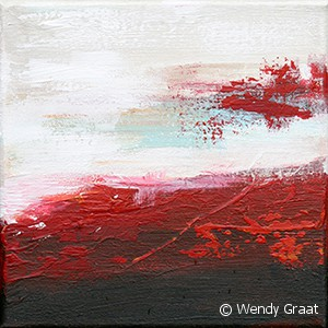 Wendy Graat abstract 20x20 acryl verwondering II